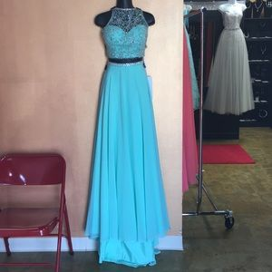 Rachel Allan Two Piece Prom Dress